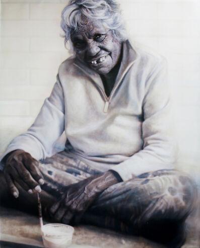 Vincent Fantauzzo, 'Portrait of Gloria Petyarre (panel 3 of triptych)'