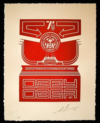 OBEY, 'CHINESE BANNER LETTERPRESS', 2014