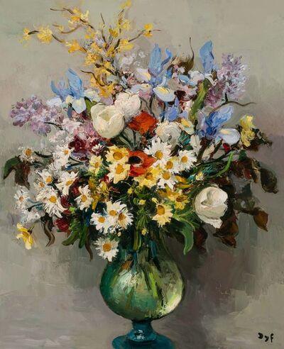 Marcel Dyf, 'Tulips and Iris'