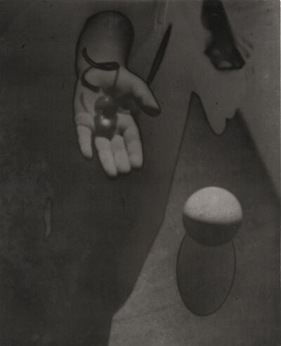 Osamu Shiihara, 'Hand and Small Glass Sphere and Larger Sphere', 1930s