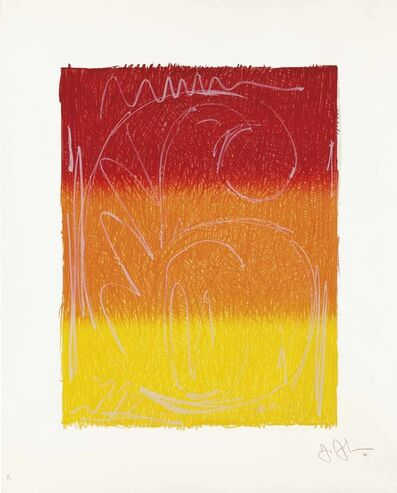 Jasper Johns, 'Figure 6, from Color Numeral Series', 1969
