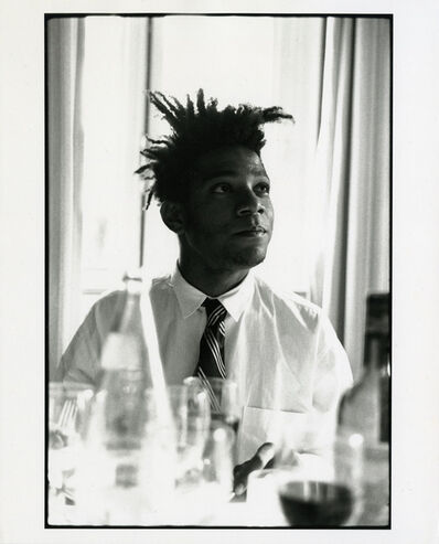 Michael Halsband, 'Jean-Michel Basquiat, Breakfast Set #1, July 1985 Lisbon, Portugal', 1985