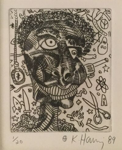 Keith Haring, 'Untitled (very rare work, hand signed edition of edition of 20)', 1989
