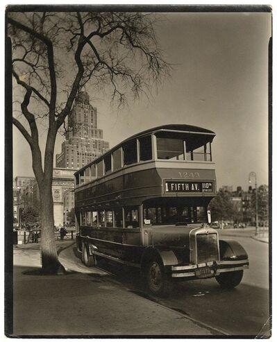 Berenice Abbott, 'Fifth Avenue Bus. Washington Square, Manhattan.', 1936