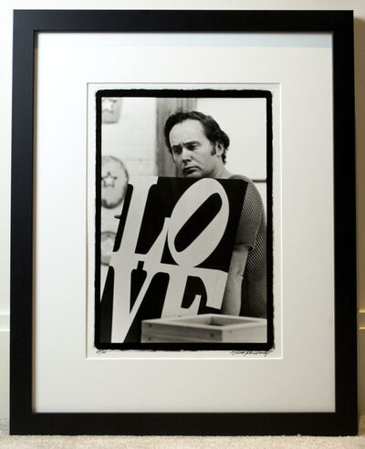 William John Kennedy, 'Robert Indiana with his LOVE', 1963