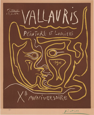 Pablo Picasso, 'Vallauris. Peinture et Lumiere. Xᵉ Anniversaire (Vallauris. Painting and Light. 10th Anniversary) (Bl. 1850, Ba. 1353)', 1964