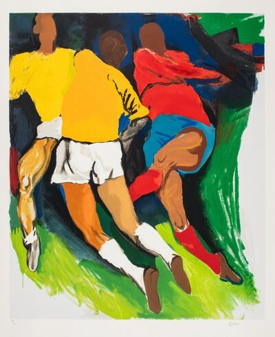 Renato Guttuso, 'Football players'