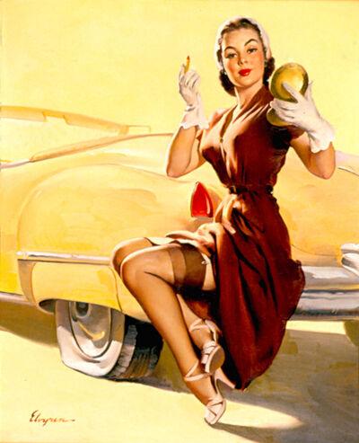 Gil Elvgren, 'Jill Needs Jack', 1950