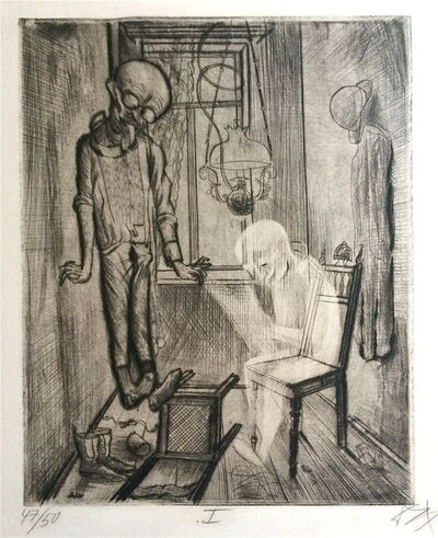Otto Dix, 'Der Selbstmörder', 1922