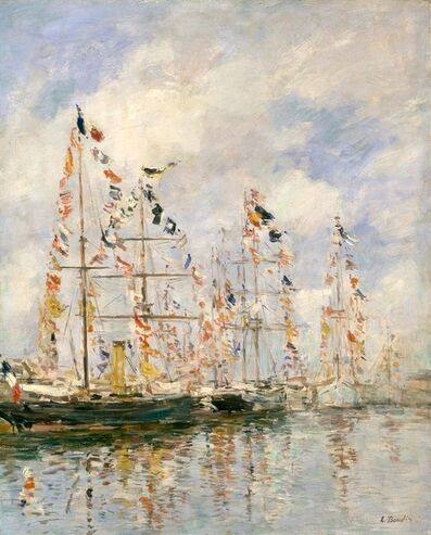 Eugène Boudin, 'Yacht Basin at Trouville - Deauville ', 1895-1896