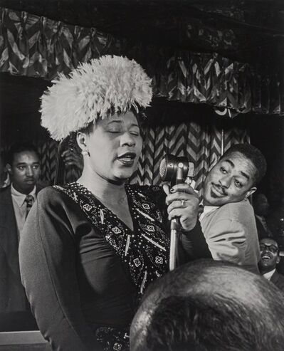 William Gottlieb, 'Ella Fitzgerald with Dizzy Gillespie, Ray Brown, and Milt Jackson', 1947