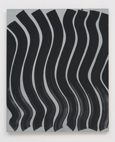 Michael Dopp, 'Untitled (Strokes, Black on Grey)', 2013
