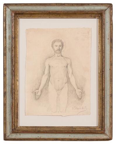 """Pierre Puvis de Chavannes, 'Etude d'homme nu pour la """"Décollation de saint Jean-Baptiste""""', ca. 1869"""