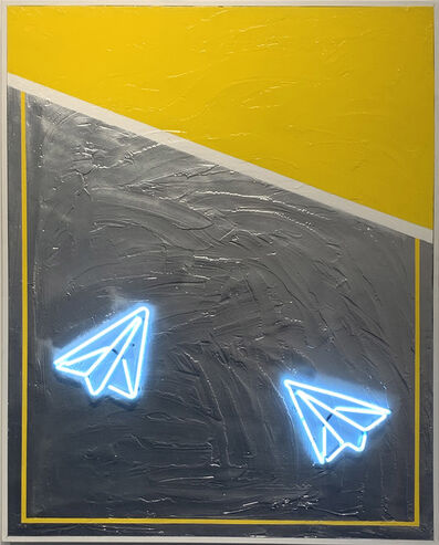 Guy Stanley Philoche, 'Neon Blue Airplanes', 2019