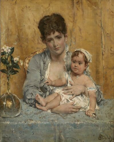 Alfred Stevens, 'Mother and Child', 1875-1880