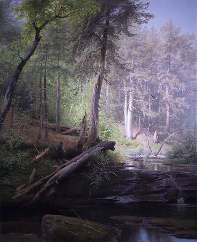Hermann Herzog, 'Morning Fisherman', 1882