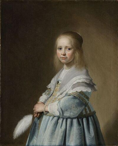 Jan Verspronck, 'Portrait of a Girl Dressed in Blue', 1641