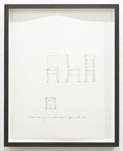 Roy McMakin, 'Untitled (a new idea for a chair based upon an old one)', 2012