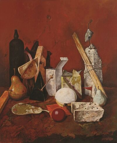 Samuel Bak, 'Bottle and Ball, Oil on canvas, 76X61 cm. Signed.', b. 1933