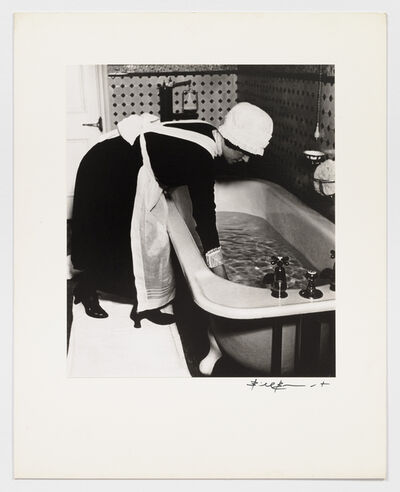 Bill Brandt, 'Parlourmaid preparing a bath before dinner', 1930s