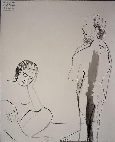 Pablo Picasso, 'Man and Woman | Homme et femme', 1967