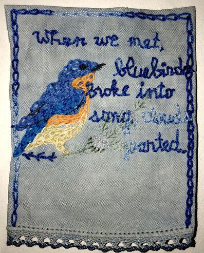 Iviva Olenick, 'When we met, bluebirds broke into song, clouds parted', 2018