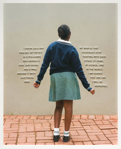 Judy Gelles, 'Fourth Grade - Be Murdered (South Africa: Public School)', 2018