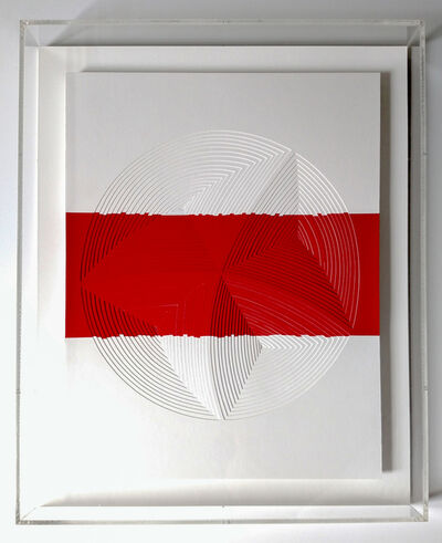 Elizabeth Gregory-Gruen, ''Red & White Stripe-In'', 2015