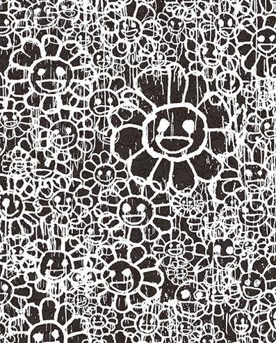 Takashi Murakami, 'Madsaki Flowers C Black', 2017