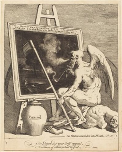 William Hogarth, 'Time Smoking a Picture', 1761
