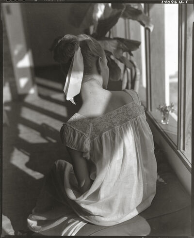 Horst P. Horst, 'Model in Lace Gown', 1947