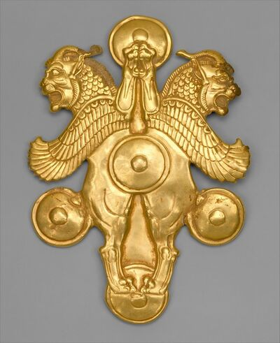 Unknown Achaemenid, 'Plaque with horned lion-griffins', ca. 6th–4th century B.C.