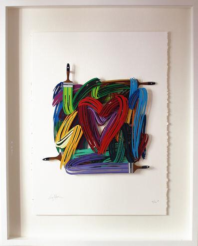 David Gerstein, 'Graffiti Heartist Paper cut', 2019
