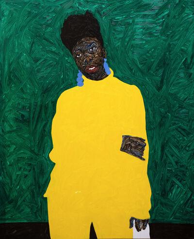 Amoako Boafo, 'Cobalt Blue Earring', 2019