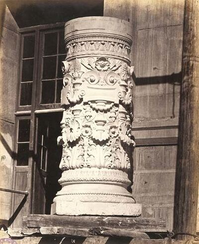Louis-Emile Durandelle, 'Architectural Detail of Ornate Column Probably for the New Opera, Paris', ca. 1866