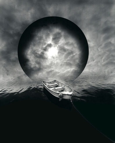 Jerry Uelsmann, 'Untitled (Boat and Moon)', 1982