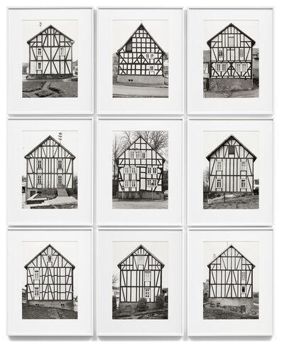 Bernd and Hilla Becher, 'Framework Houses - Gable Side', 1970-1973