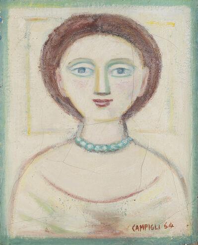 Massimo Campigli, 'Donna con collana verde', 1964