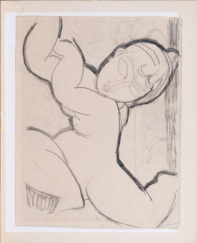 Amedeo Modigliani, 'Cariatide au dos à droite', executed circa 1913-14.