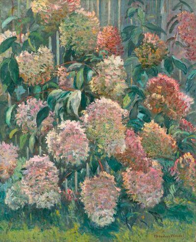 Theodore Wendel, 'Hydrangeas, Ipswich', ca. 1915