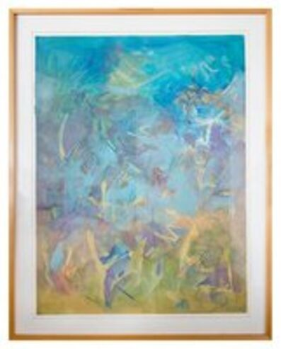 Jeff Christ, 'Talquin, 1980s Mixed Media Modernist Abstract Painting', 1980-1989