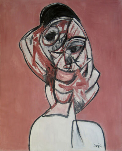 Juan Barjola, 'Retrato de mujer', ca. c 1990