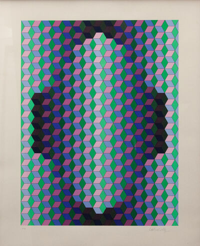 Victor Vasarely, 'Kedd', 1984