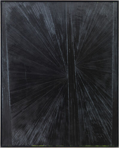 Mark Grotjahn, 'Untitled (Black Butterfly Over Lime)', 2004