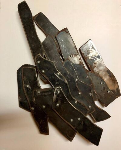 Robert Goodnough, 'Abstract Expressionist Patinated Metal Assemblage Sculpture Steel, Nuts, Bolts', 20th Century