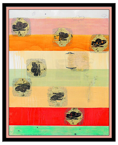 Christopher Brown, 'Christopher Brown Original Monoprint Painting Signed Abstract Large Modern Art', 1970-1989