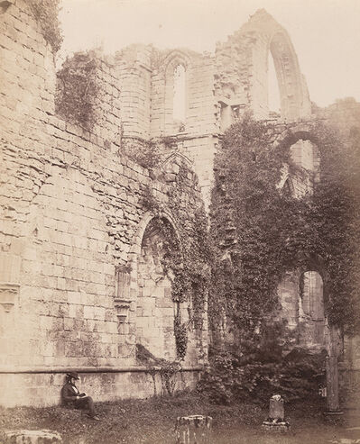 Philip Henry Delamotte, 'Fountains Abbey. Interior of Chapter House', 1856/1856