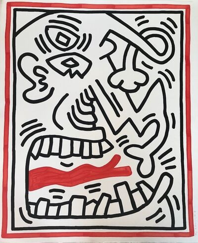 Keith Haring, 'Untitled (Red Tongue)', 1985