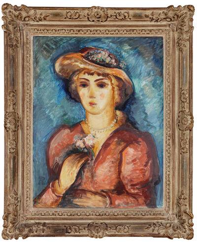 Antonin Procházka, 'Girl in a Hat', 1908