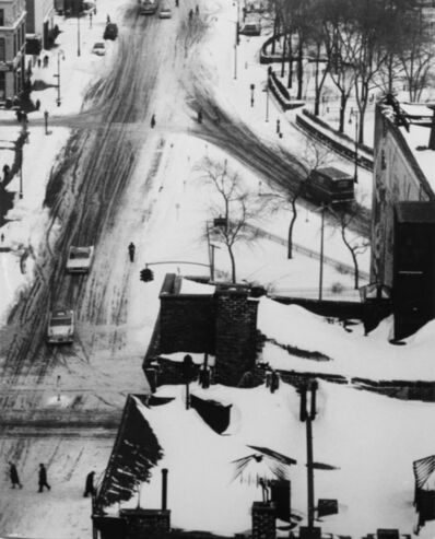 André Kertész, 'Snow Covered Streets and Roof Tops, January 30', 1961